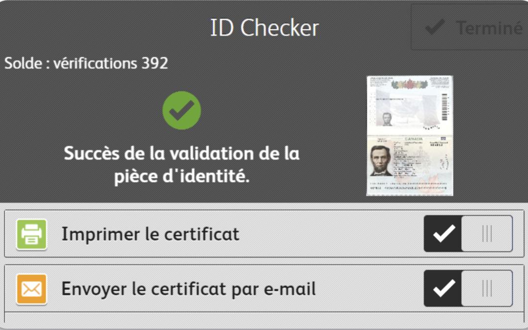 Application Xerox ID Checker